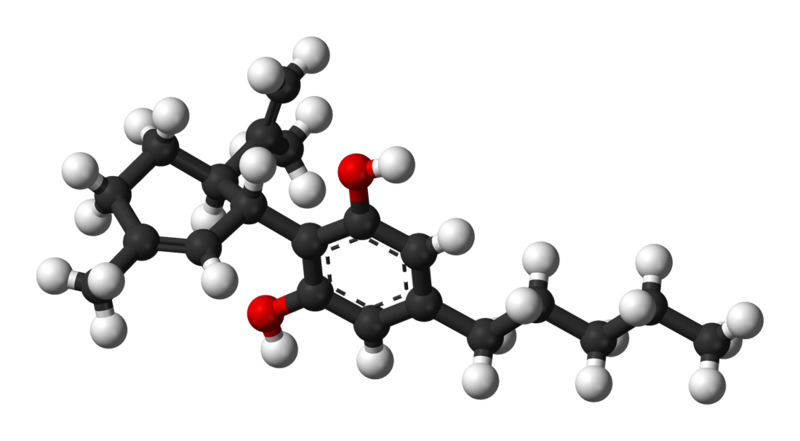 graphic of a cbd molecule