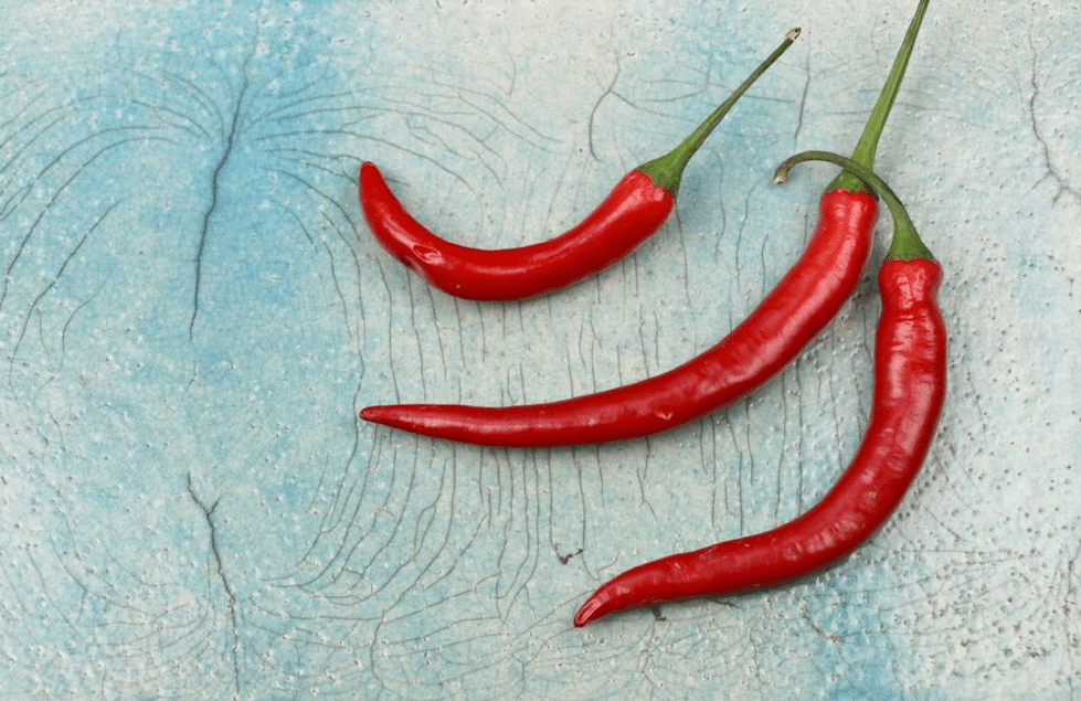 three red chilli peppers