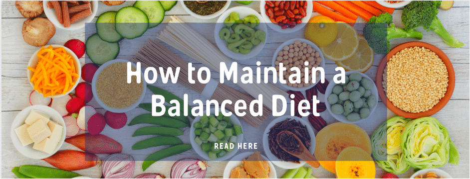 How to maintain a balanced diet ElleVance blog banner